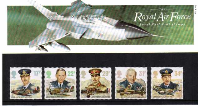 Stamp Image: view larger back view image for History of the Royal Air Force<br/><br/>