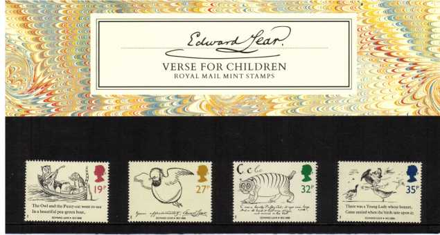 Stamp Image: view larger back view image for Death Centenary of Edward Lear<br/><br/>