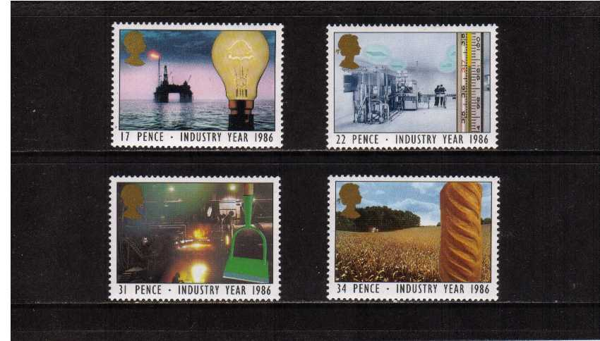 view larger image for SG 1308-1311 (1986) - Industry Year set of four