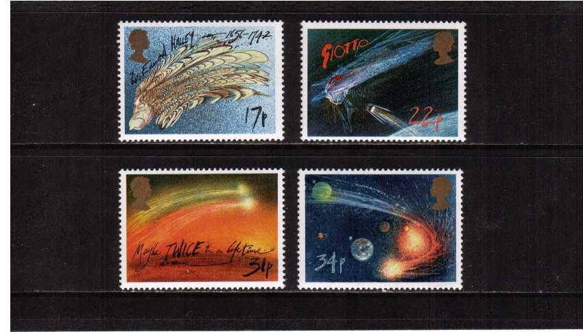 view larger image for SG 1312-1315 (1986) - Halley's Comet set of four