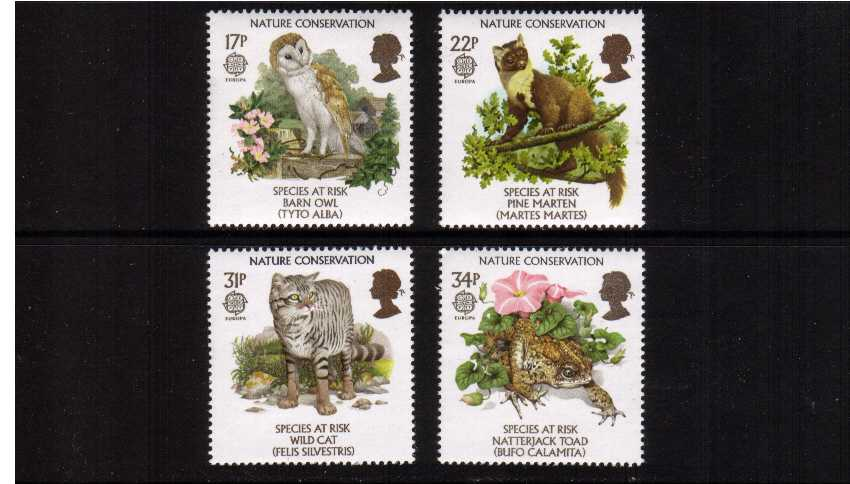 view larger image for SG 1320-1323 (1986) - EUROPA - Nature Conservation set of four