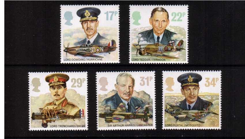 view larger image for SG 1336-1340 (1986) - History of the Royal Air Force set of five