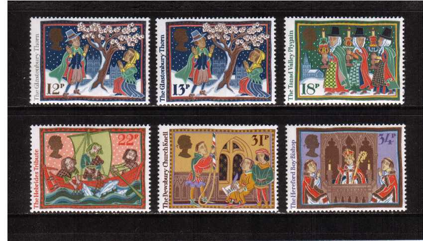 view larger image for SG 1341-1346 (1986) - Christmas - Folk Customs set of six