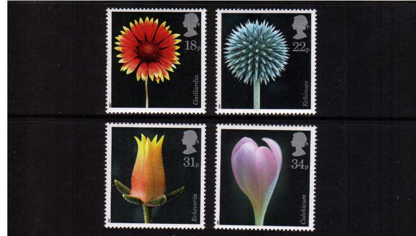 view larger image for SG 1347-1350 (1987) - Flower Photographs set of our