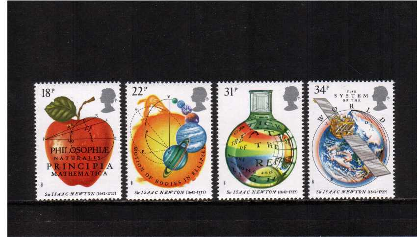 view larger image for SG 1351-1354 (1987) - Sir Isaac Newton set of four