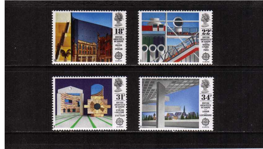 view larger image for SG 1355-1358 (1987) - EUROPA - British Architects in Europe set of four