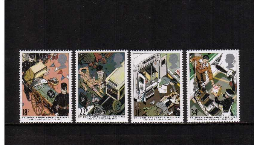 view larger image for SG 1359-1362 (1987) - St John Ambulance set of four