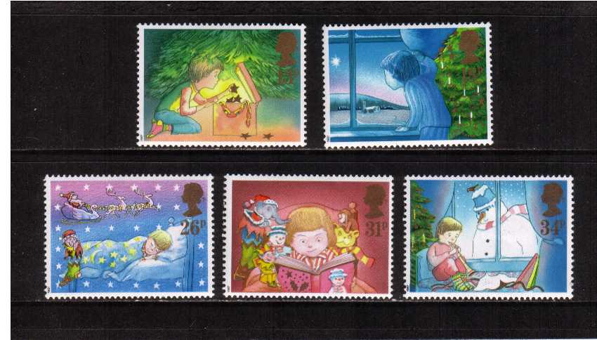 view larger image for SG 1375-1379 (1987) - Christmas set of five