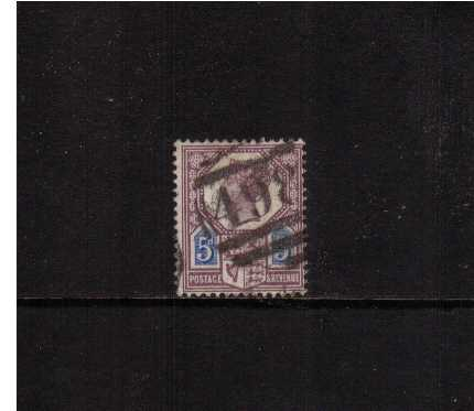 view larger image for SG 207 (1887) - 5d Dull Purple and Blue - Die I<br/> in good used condition. SG Cat �120