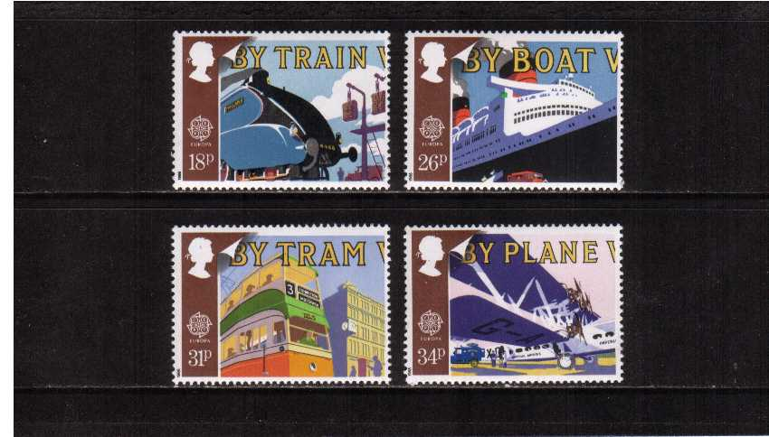 view larger image for SG 1392-1395 (1988) - EUROPA - Transport & Mail Services set of four
