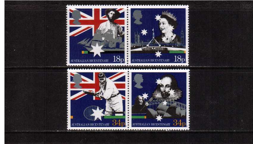 view larger image for SG 1396-1399 (1988) - Bicentenary of Australian Settlement set of four