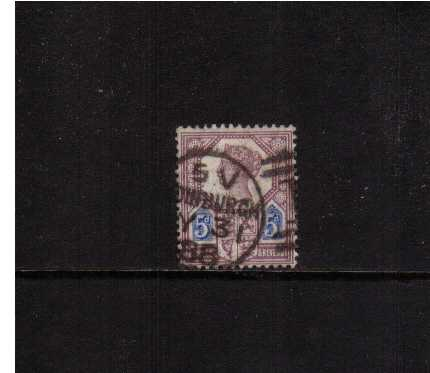 view larger image for SG 207 (1887) - 5d Dull Purple and Blue - Die 1<br/>in good used condition. SG Cat �120