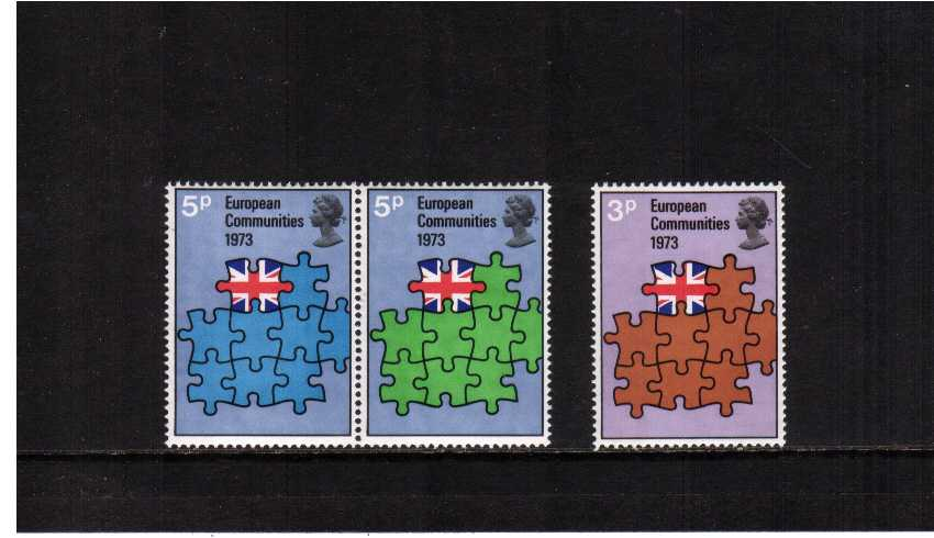 view larger image for SG 919-921 (1973) - Britain's Entry into European Community set of three