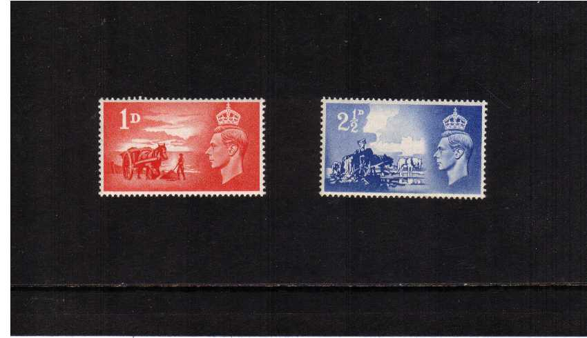 view larger image for SG C1-C2 (1948) - Third Anniversary of Channel Islands Liberation set of two