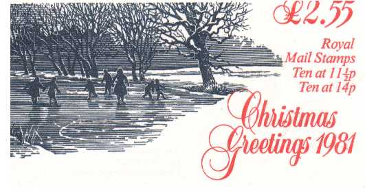 British Stamps Christmas Booklets Item: view larger image for SG FX4 (1981) - �2.55 - containing pane X893L
