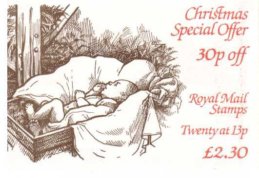 British Stamps Christmas Booklets Item: view larger image for SG FX7 (1984) - �2.30 - containing pane 1267Eu