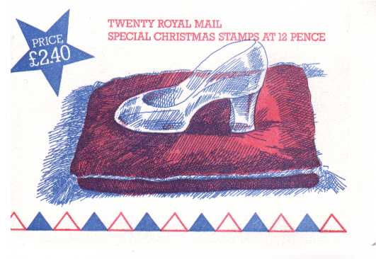 British Stamps Christmas Booklets Item: view larger image for SG FX8 (1985) - �2.40 - containing pane of 20x12p