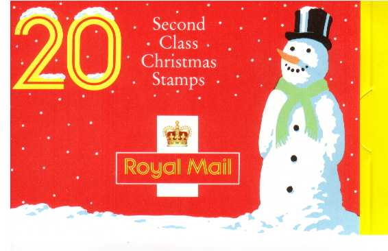 British Stamps Christmas Booklets Item: view larger image for SG LX1 (1990) - �3.40 - Containg pane 1526a