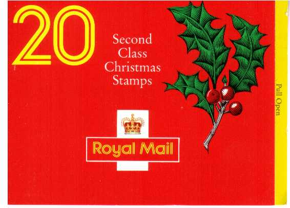 British Stamps Christmas Booklets Item: view larger image for SG LX2 (1991) - �3.60 - Containing pane 1582b