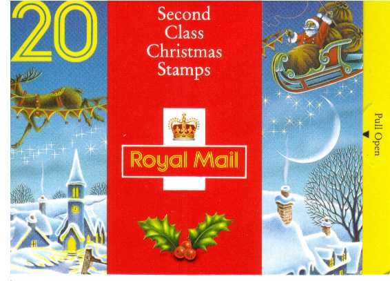 British Stamps Christmas Booklets Item: view larger image for SG LX3 (1992) - �3.60 - Containing pane 1634a