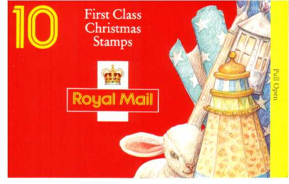 British Stamps Christmas Booklets Item: view larger image for SG LX6 (1994) - �2.50 - Containing ten 25p (SG1844)