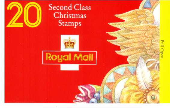 British Stamps Christmas Booklets Item: view larger image for SG LX7 (1994) - �3.80 - Containing twenty 19p (SG1843)
