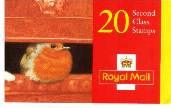 British Stamps Christmas Booklets Item: view larger image for SG LX10 (1995) - �3.80 - Containing twenty 19p (SG1896)