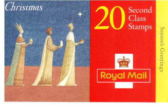 British Stamps Christmas Booklets Item: view larger image for SG LX12 (1996) - �4.00 - Containing twenty 2nd Class (SG1950)