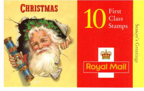 British Stamps Christmas Booklets Item: view larger image for SG LX13 (1997) - �2.60 - Containing ten 1st Class stamps (SG2007)
