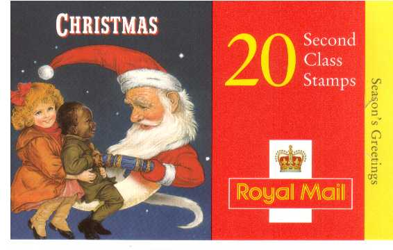British Stamps Christmas Booklets Item: view larger image for SG LX14 (1997) - �4.00 - Containing twenty 2nd Class stamps (SG2006)