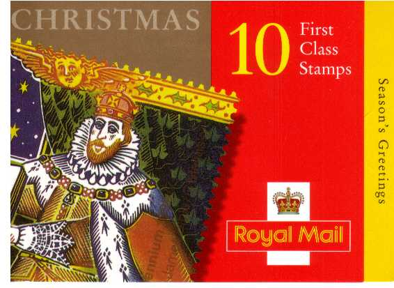 British Stamps Christmas Booklets Item: view larger image for SG LX17 (1999) - �2.60 - Containing ten 26p stamps (SG2116)