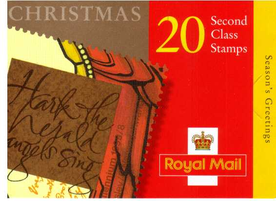 British Stamps Christmas Booklets Item: view larger image for SG LX18 (1999) - �3.90 - Containing twenty 19p stamps (SG2115)