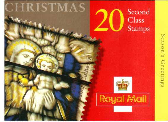 British Stamps Christmas Booklets Item: view larger image for SG LX20 (2000) - �3.80 - Containing twenty 2nd Class stamps (SG2170)