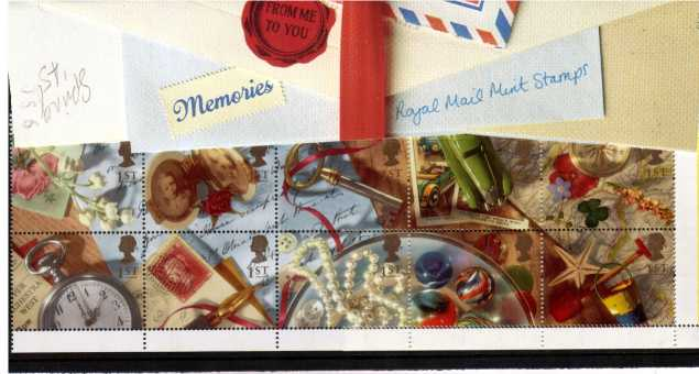 Stamp Image: view larger back view image for Greetings Stamps - Memories<br/><br/>