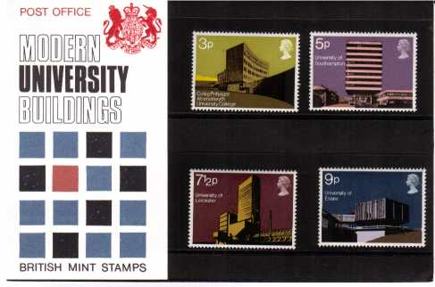 Stamp Image: view larger back view image for Brirish Architecture - Universities