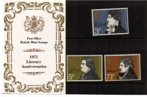 Stamp Image: view larger back view image for Literary Anniversaries