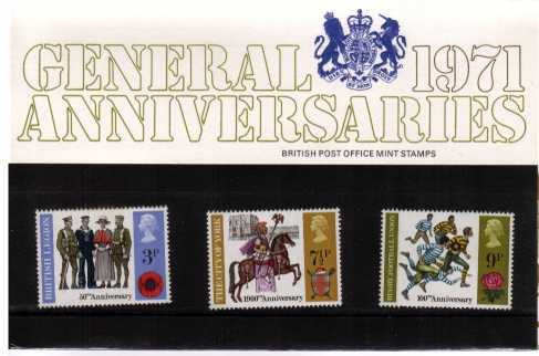 Stamp Image: view larger back view image for British Anniversaries