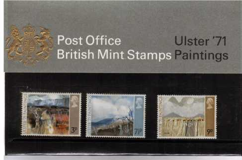 Stamp Image: view larger back view image for Ulster 1971 Paintings<br/><br/>
