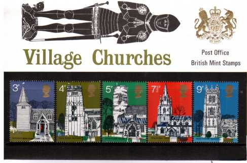 Stamp Image: view larger back view image for British Architecture - Village Churches<br/><br/>