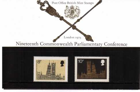 Stamp Image: view larger back view image for 19th Commonwealth Parliamentary Conference<br/><br/>