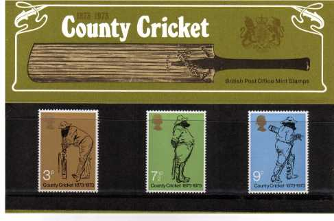 Stamp Image: view larger back view image for County Cricket<br/><br/>