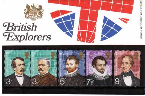 Stamp Image: view larger back view image for British Explorers<br/><br/>