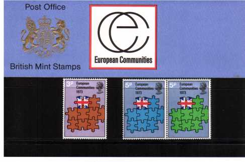 Stamp Image: view larger back view image for Britain's Entry in EEC<br/><br/>