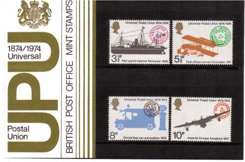 Stamp Image: view larger back view image for U.P.U. Centenary<br/><br/>