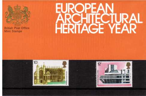 Stamp Image: view larger back view image for European Architectural Heritage Year<br/><br/>
