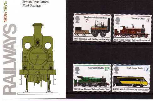Stamp Image: view larger back view image for 150th Anniversary of Public Railways<br/><br/>