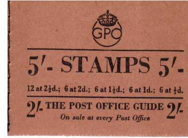 British Stamps George 6th Booklets Item: view larger image for SG BD32-1 (1953) - 5/- Booklet <br/>