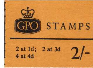 British Stamps QE II Stitched Pre Decimal Booklets Item: view larger image for SG N28p (1967) - 2/- Booklet <br/>PHOSPHOR - Dated April 1967