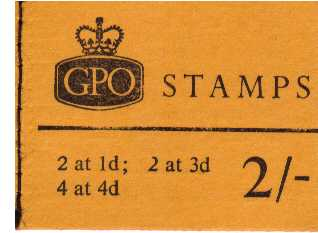 British Stamps QE II Stitched Pre Decimal Booklets Item: view larger image for SG NP27 (1968) - 2/- Booklet<br/>Dated May 1968