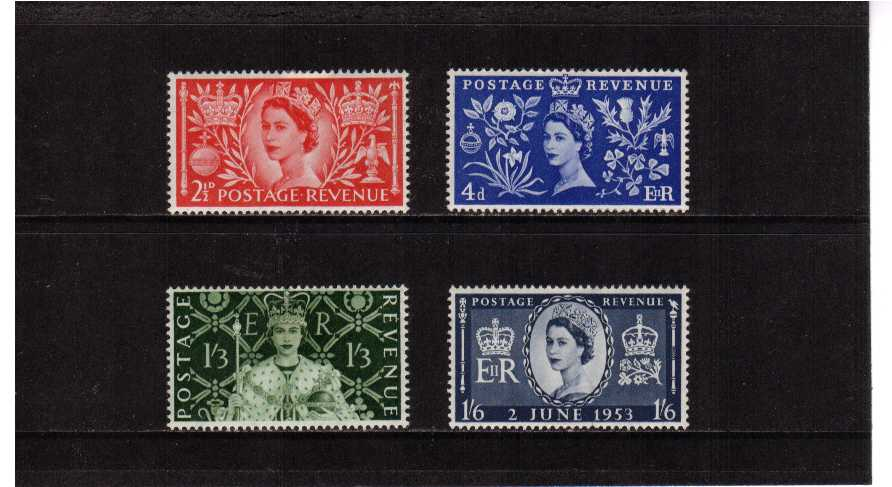 view larger image for SG 532-535 (1953) - Coronation set of four
